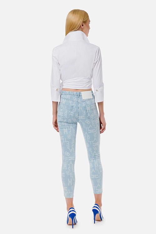 Immagine di Jeans skinny con logo Elisabetta Franchi (ESAURITO)