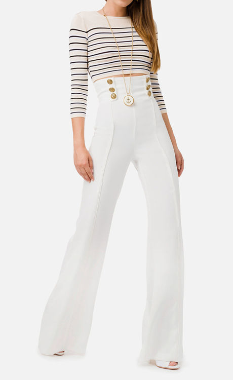Immagine di Pantalone vita alta in crêpe Elisabetta Franchi (SOLD OUT)