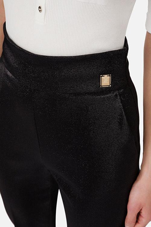 Immagine di Pantaloni in lurex a vita alta Elisabetta Franchi (SOLD OUT)