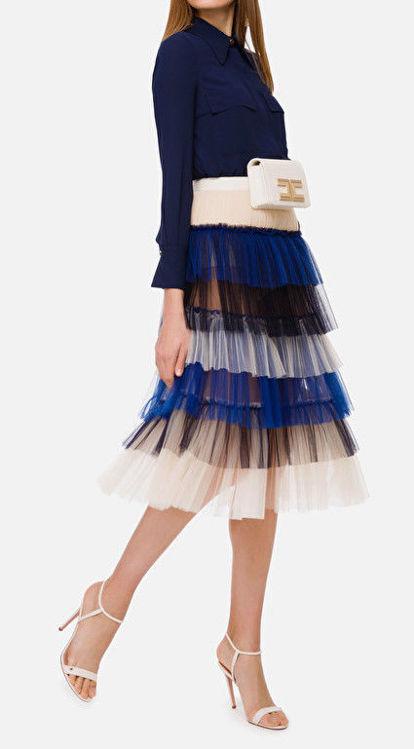 Immagine di Gonna in tulle multicolor Elisabetta Franchi (SOLD OUT)