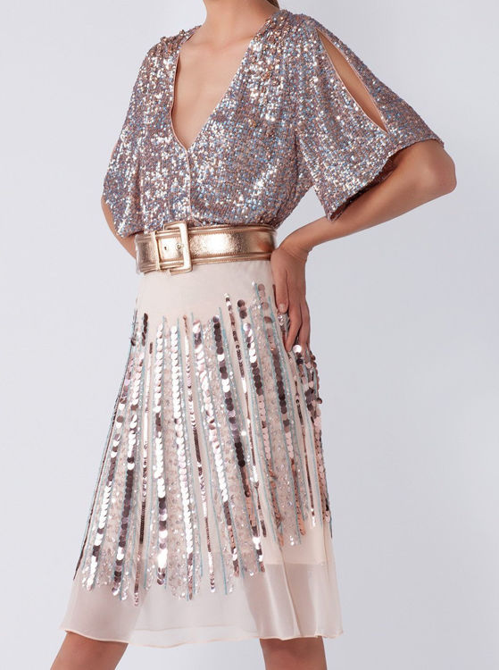 Immagine di Blusa incrocio full paillettes Nenette