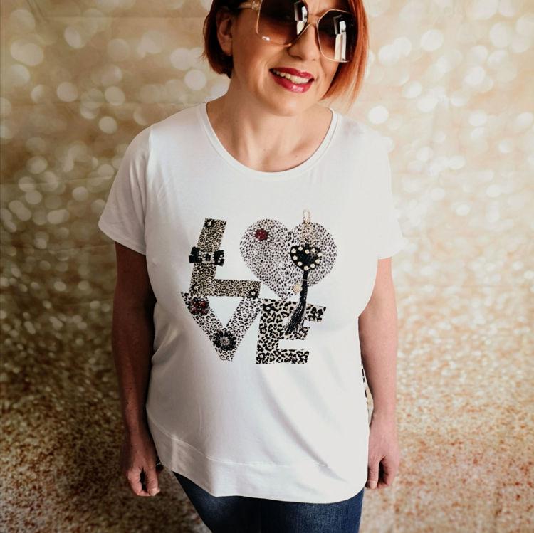 Immagine di T-Shirt con strass Isha