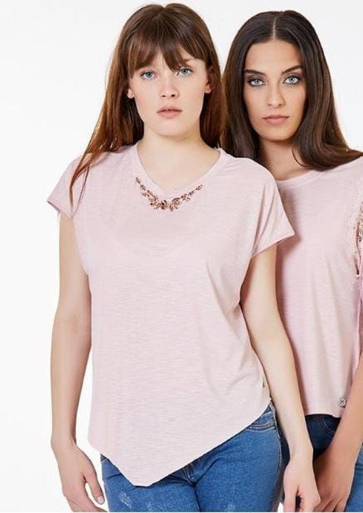 Immagine di T-Shirt con collna Koralline