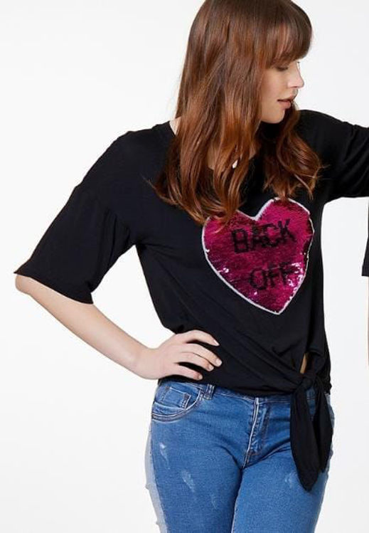 Immagine di T-Shirt con Patch Cuore Koralline (SOLD OUT)