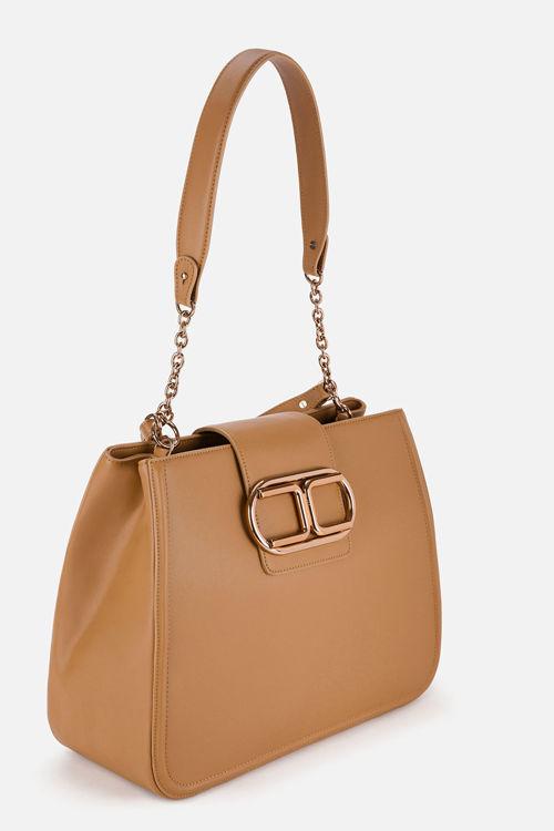 Immagine di Tote bag in ecopelle con logo Elisabetta Franchi (ESAURITO)
