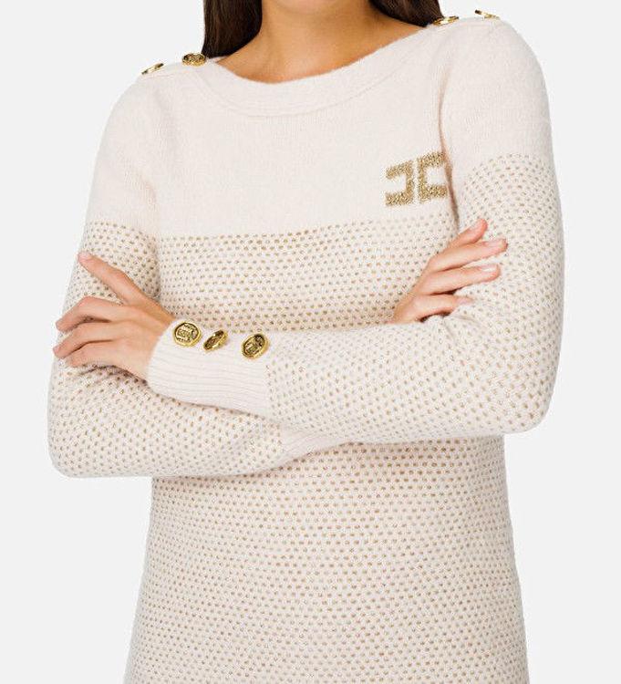 Immagine di Abito in maglia con bottoni e logo Elisabetta Franchi