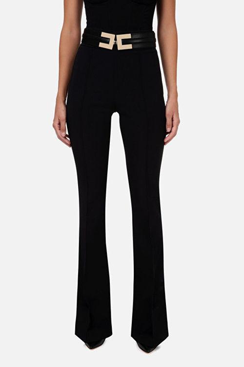 Immagine di Pantalone a zampa con cintura Elisabetta Franchi