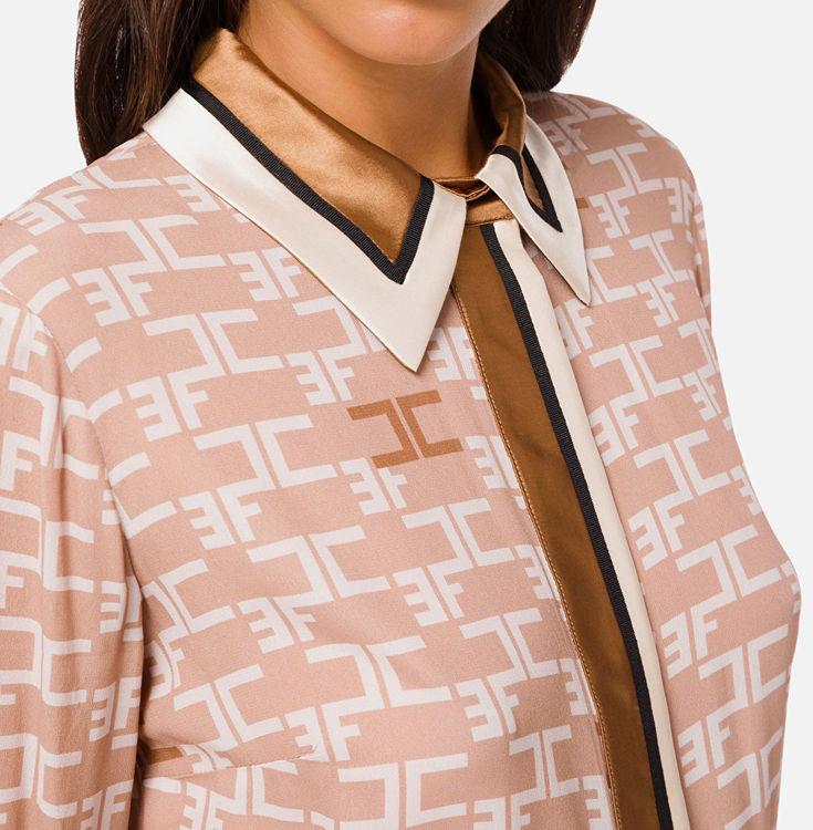 Immagine di Camicia con stampa logo e piping a contrasto Elisabetta Franchi