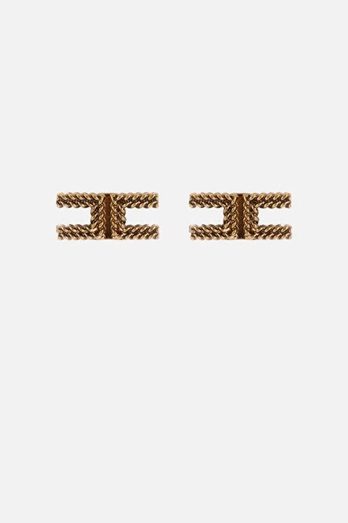 Immagine di Orecchini logo in oro Elisabetta Franchi