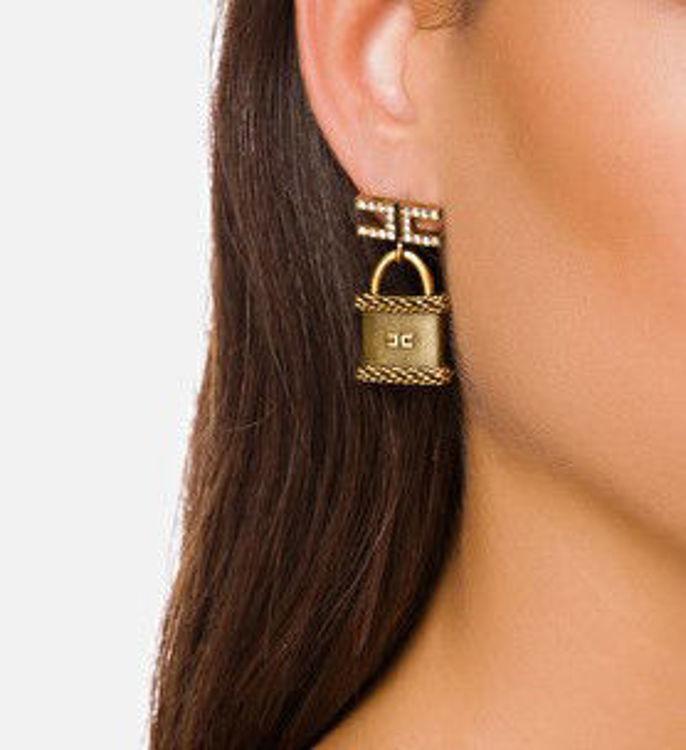 Immagine di Orecchini lucchetto in oro antico Elisabetta Franchi (ESAURITO)