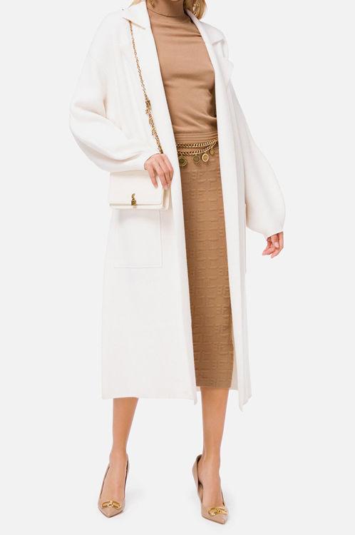 Immagine di Cappotto a vestaglia in lana cotta Elisabetta Franchi