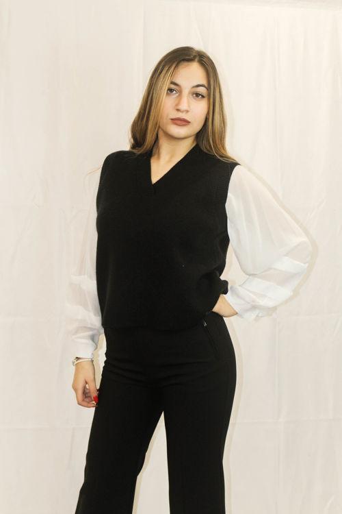 Immagine di Gilet in maglia con camicia Koralline