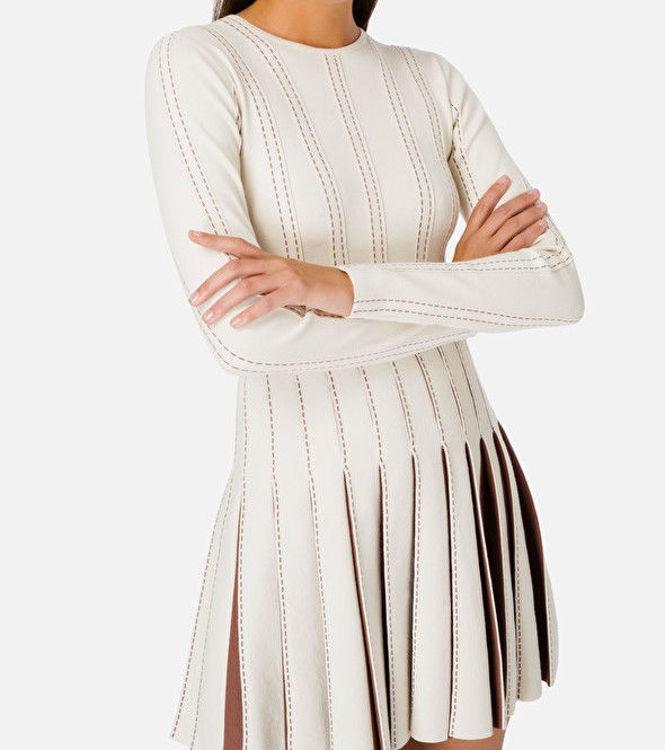Immagine di Mini abito con plissè a contrasto Elisabetta Franchi