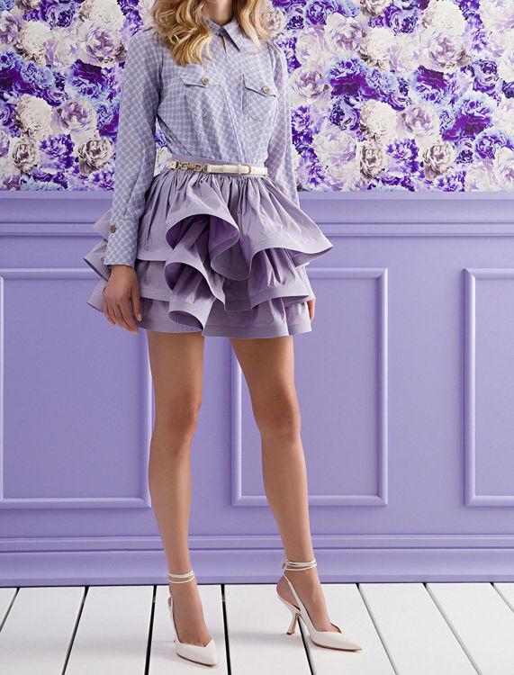 Immagine di Camicia a body stampa morsetto con tasche Elisabetta Franchi