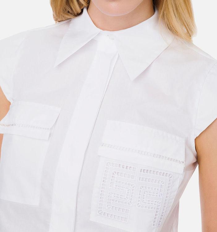 Immagine di Camicia a manica corta con ricamo Elisabetta Franchi