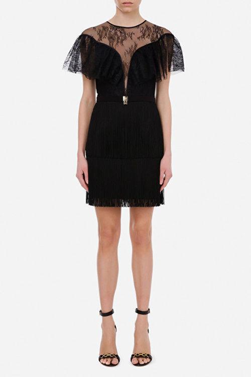 Immagine di Mini dress trasparente in pizzo Elisabetta Franchi