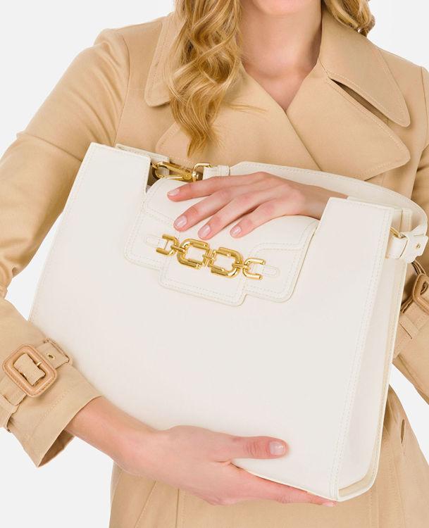 Immagine di Borsa grande con moschettoni e morsetto dorati Elisabetta Franchi