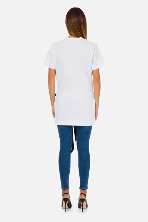 Immagine di T-shirt Elisabetta Franchi stampa shopper e fiocco Elisabetta Franchi