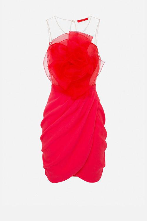 Immagine di Mini abito con fiore in organza Elisabetta Franchi