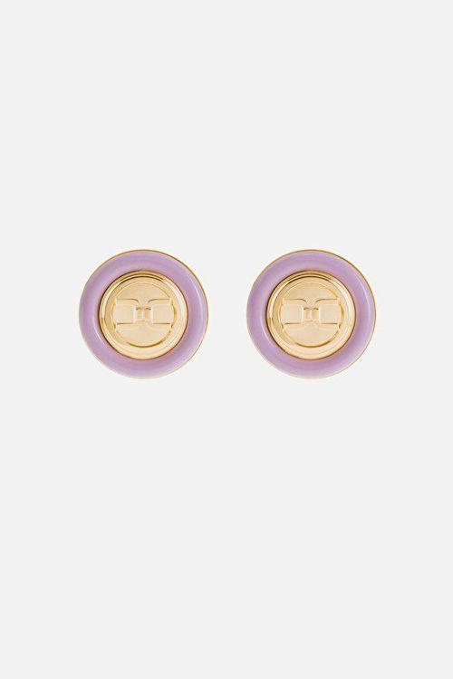 Immagine di Orecchini tondi con logo Elisabetta Franchi