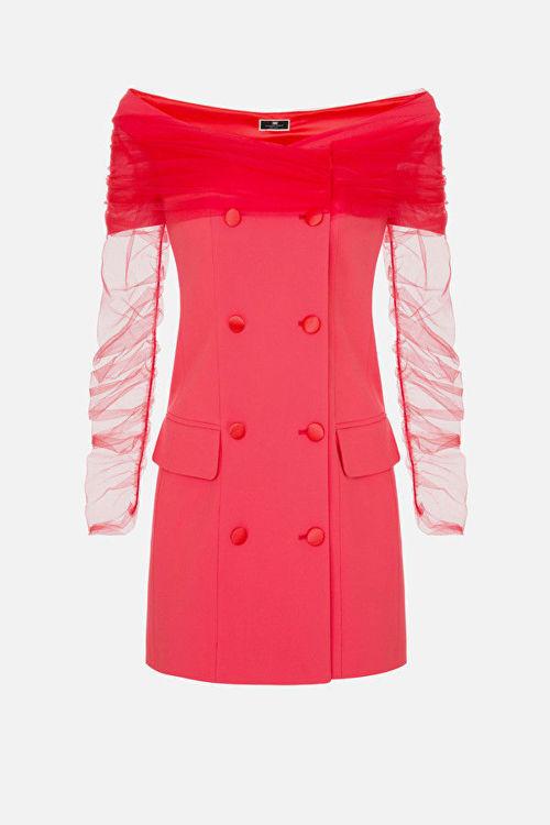 Immagine di Robe manteau con manica in tulle Elisabetta Franchi