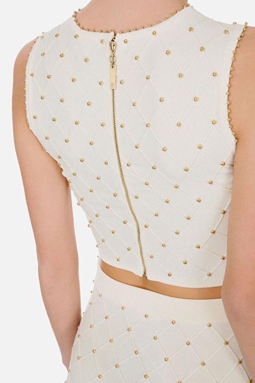 Immagine di Top in maglia con borchie Elisabetta Franchi