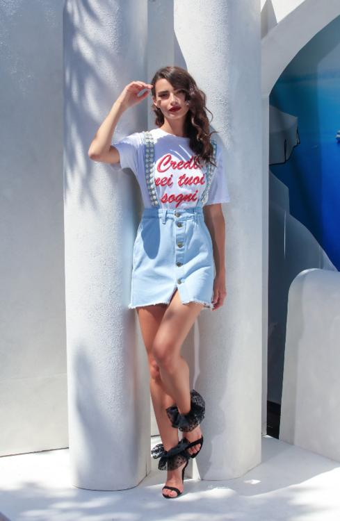 Immagine di T-Shirt iconica con stampa Giulia N