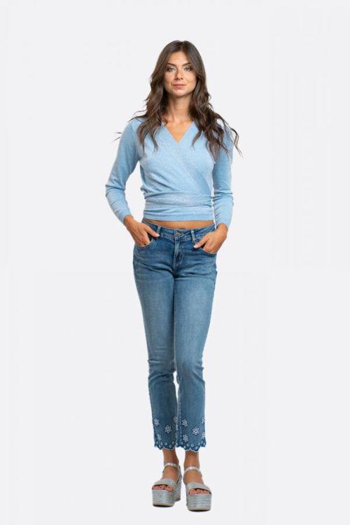 Immagine di Jeans con ricamo in sangallo  NoSecrets