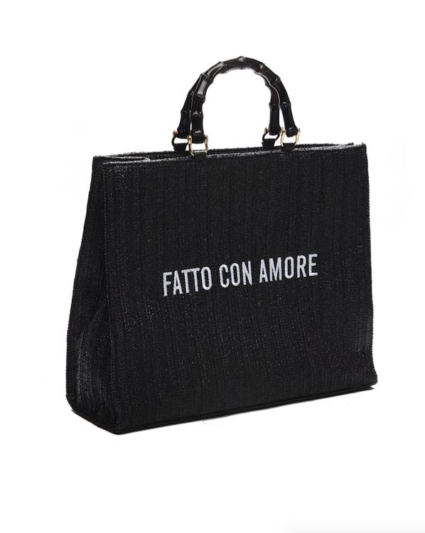 """Immagine di Borsa shopper""""Fatto con amore"""" Giulia N"""
