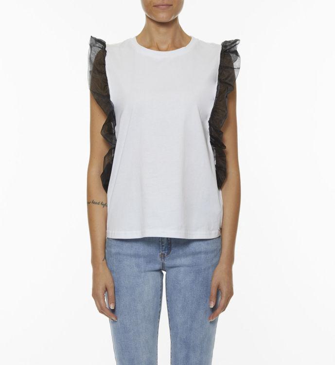 Immagine di T-shirt con maniche in organza Koralline