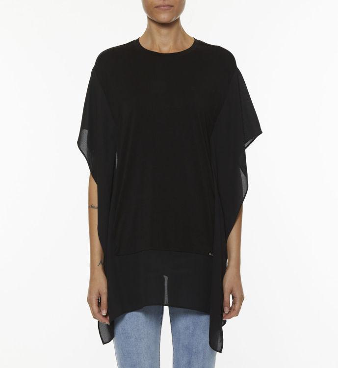Immagine di T-shirt Over con georgette  Koralline (ESAURITO)