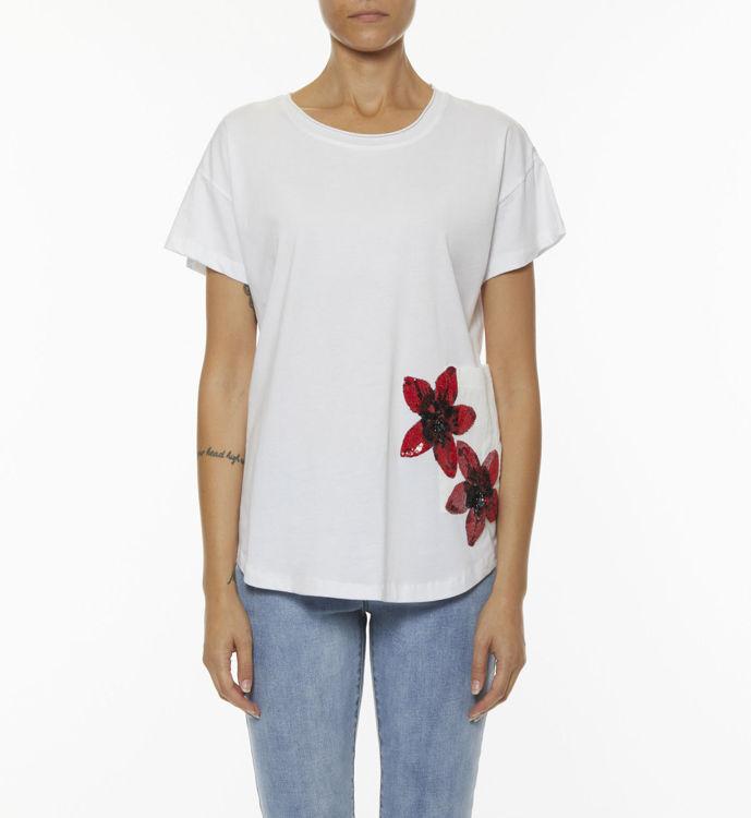 Immagine di T-shirt con patch e fiori  Koralline