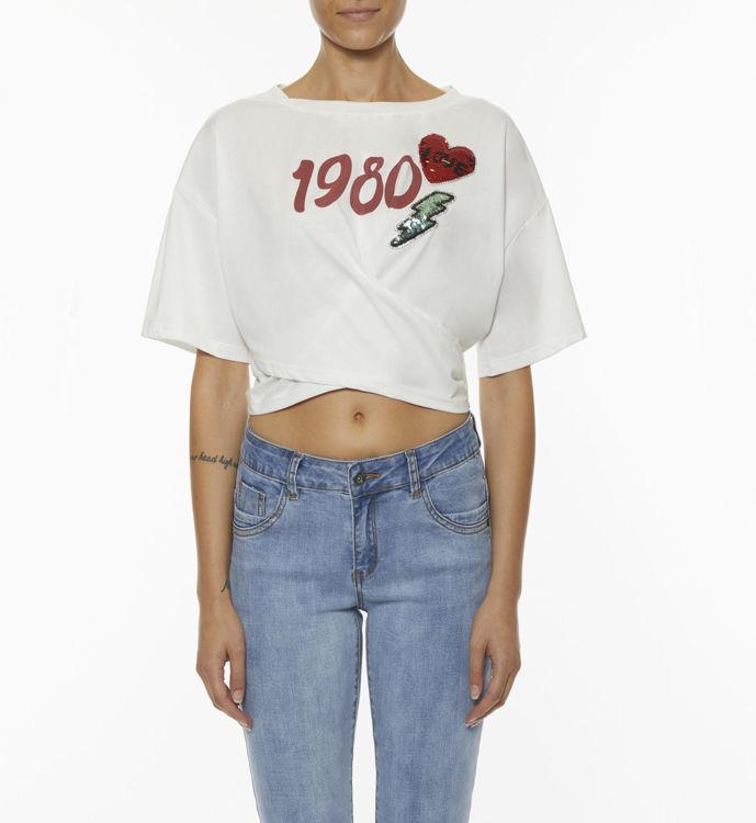 Immagine di T-shirt con stampa e patch Koralline