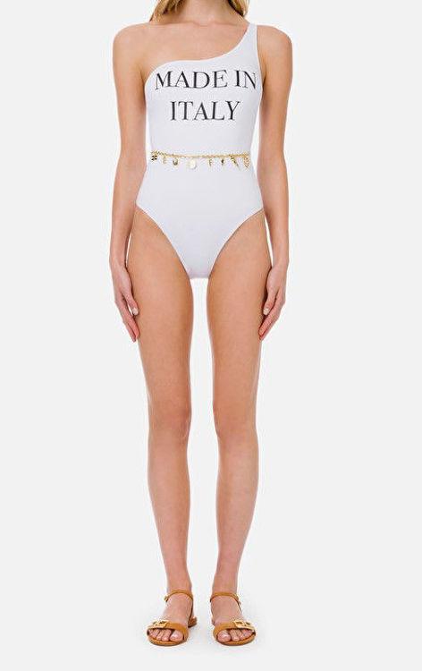 Immagine di Bikini monospalla Made In Italy con charms Elisabetta Franchi