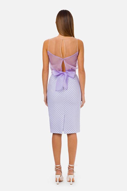 Immagine di Top in organza con maxi rouches Elisabetta Franchi x