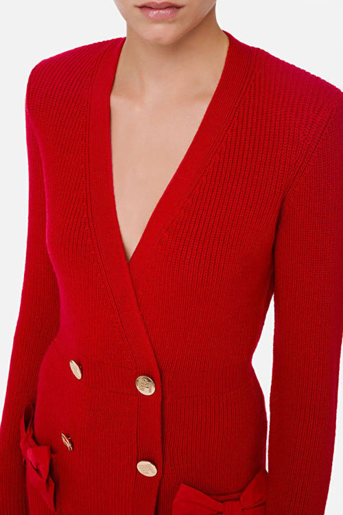 Immagine di Robe manteau in maglia con fiocchi Elisabetta Franchi