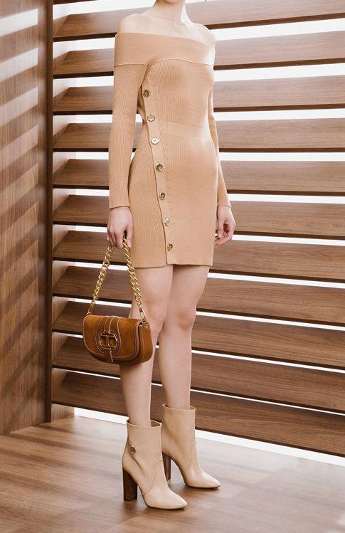 Immagine di Abito in maglia con abbottonatura gold Elisabetta Franchi