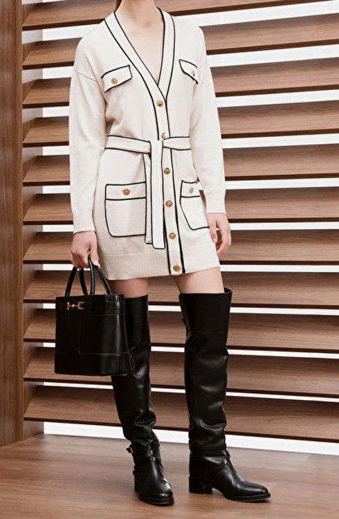 Immagine di Cardigan in lana piping a contrasto Elisabetta Franchi