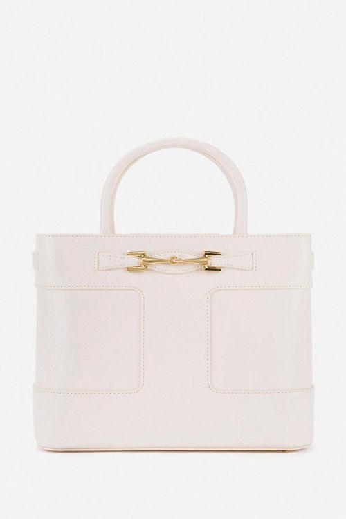 Immagine di Shopper piccola con morsetto light gold Elisabetta Franchi