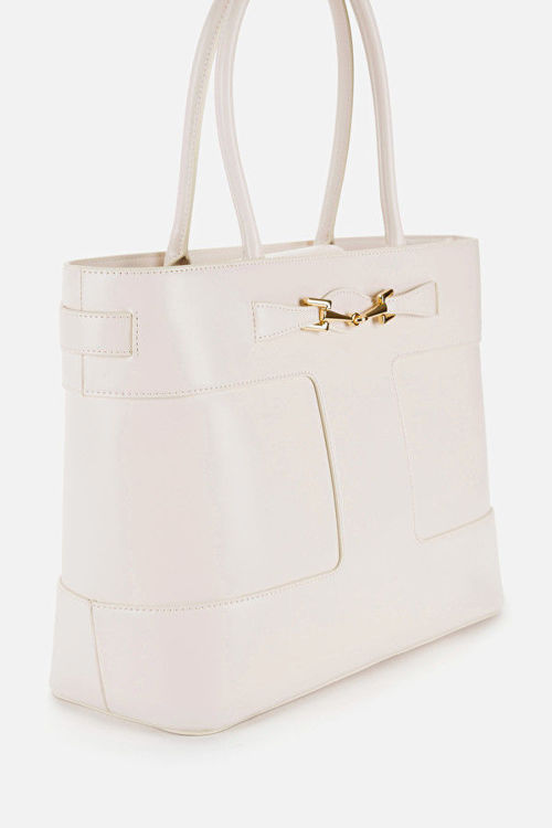 Immagine di Shopper grande con morsetto light gold Elisabetta Franchi