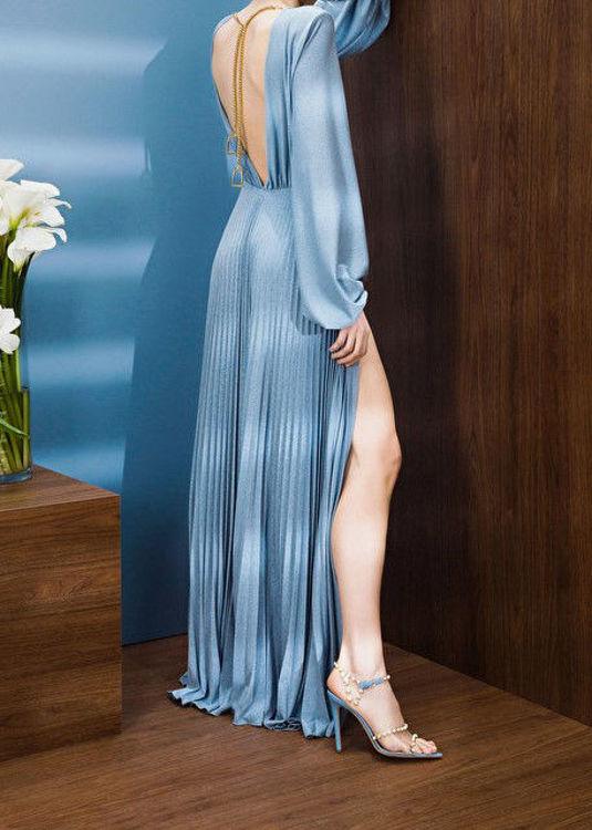 Immagine di Abito Red Carpet plissettato con charm staffa light gold Elisabetta Franchi (SOLD OUT)