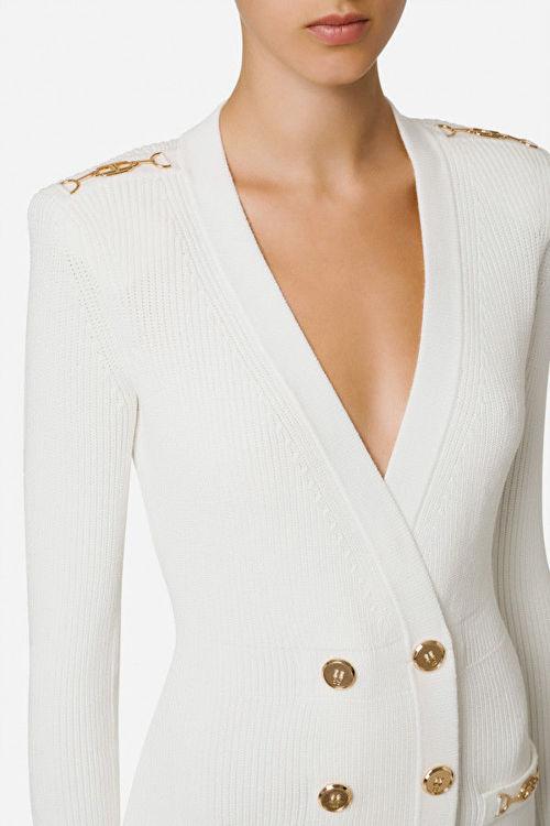 Immagine di Robe manteau in maglia con dettagli oro Elisabetta Franchi