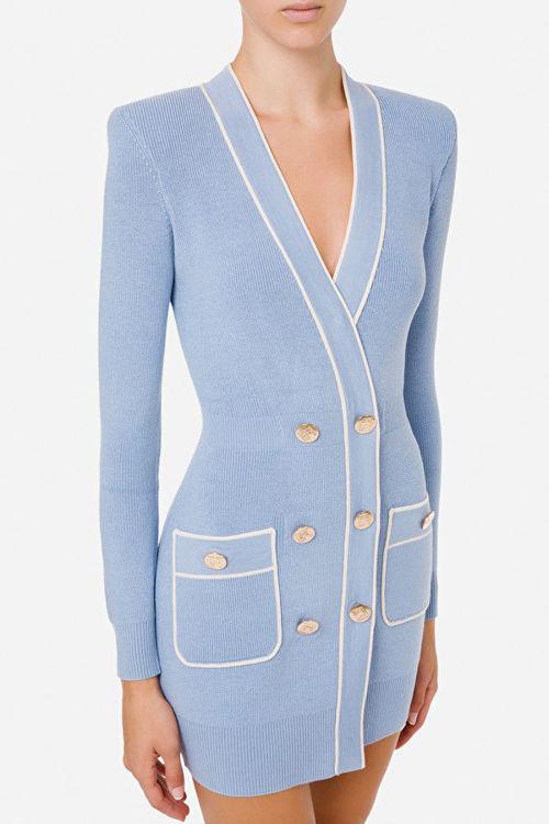 Immagine di Robe manteau in maglia piping a contrasto Elisabetta Franchi