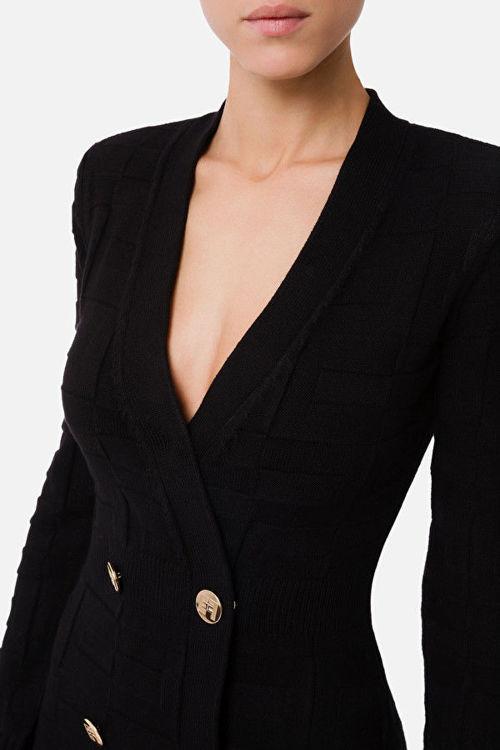 Immagine di Robe manteau con pattern logo Elisabetta Franchi