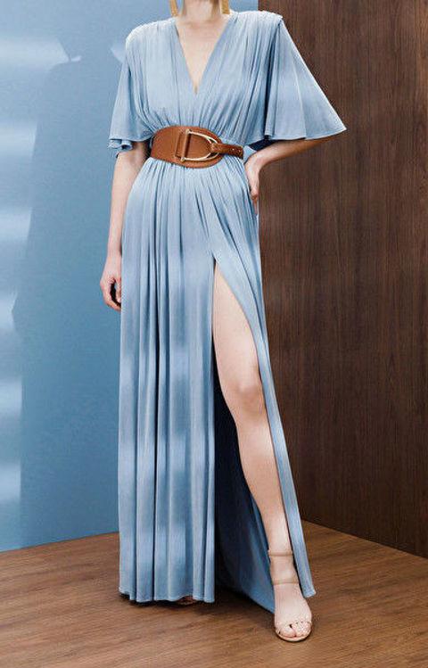 Immagine di Abito Red Carpet stile impero con maxi cintura Elisabetta Franchi