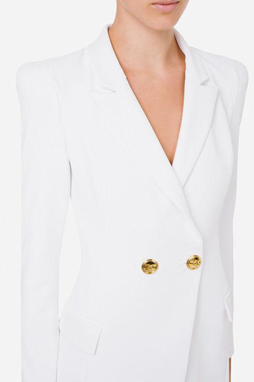 Immagine di Robe manteau asimmetrico con rever Elisabetta Franchi