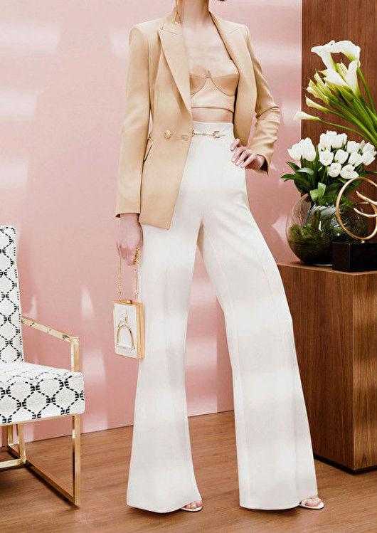 Immagine di Giacca con morsetto light gold Elisabetta Franchi