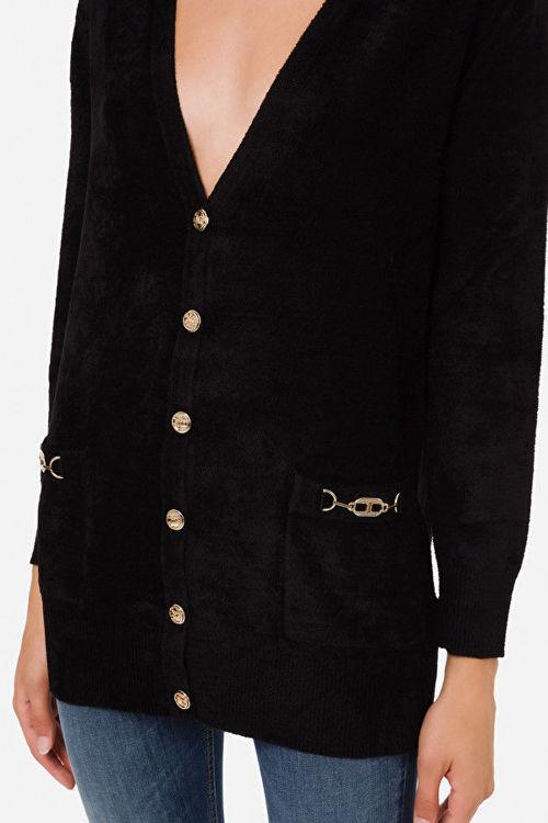 Immagine di Cardigan in ciniglia con morsetti Elisabetta Franchi