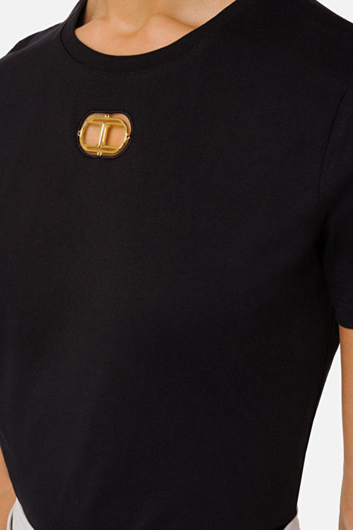 Immagine di T-shirt con oblò light gold Elisabetta Franchi