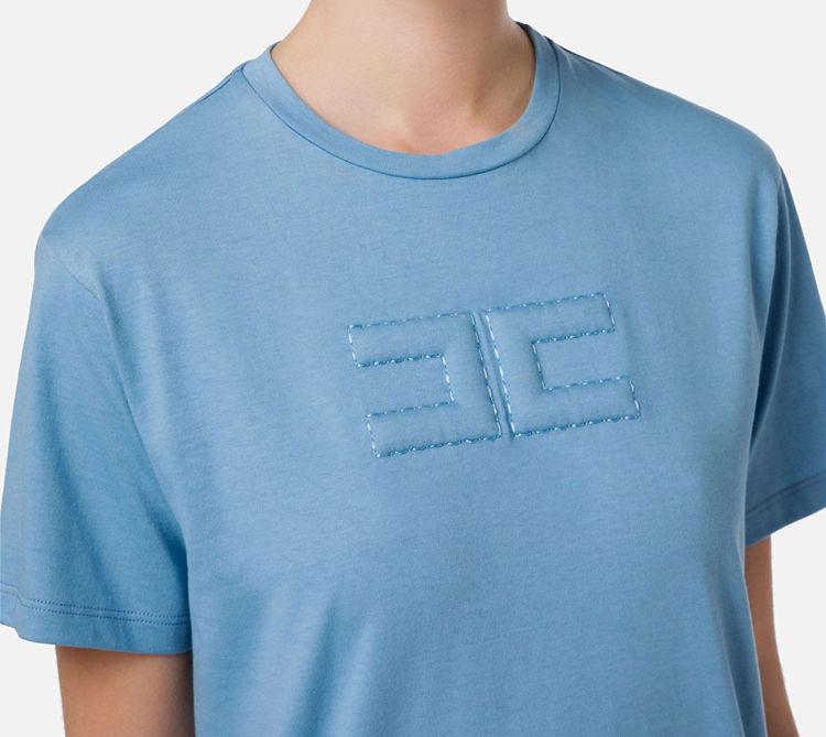 Immagine di T-shirt con logo embossed Elisabetta Franchi